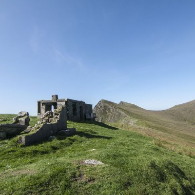 Klify Achill, Moyteoge Head, ruiny Lookout Post